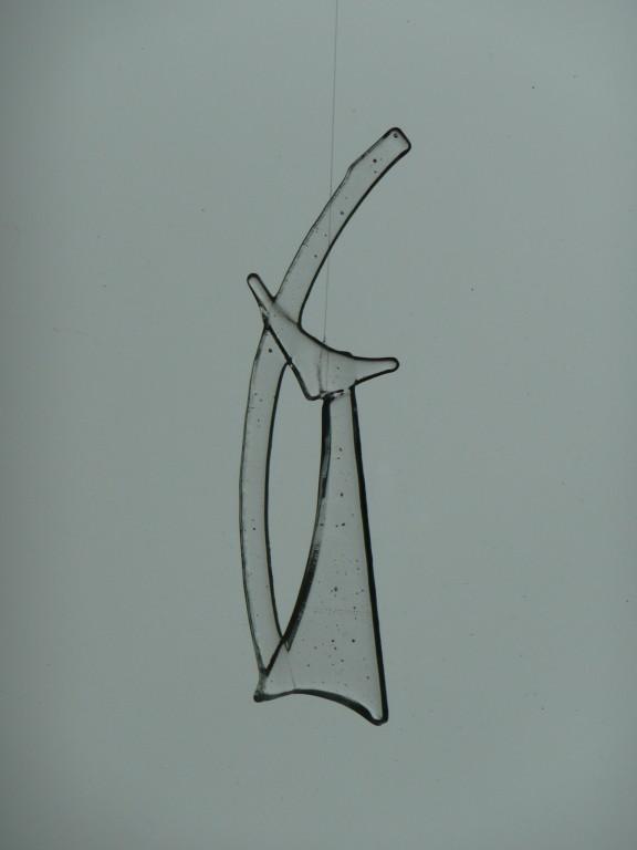 Katze (zirka 6x20cm) transparent Tackfusing Preis: Fr. 15.--