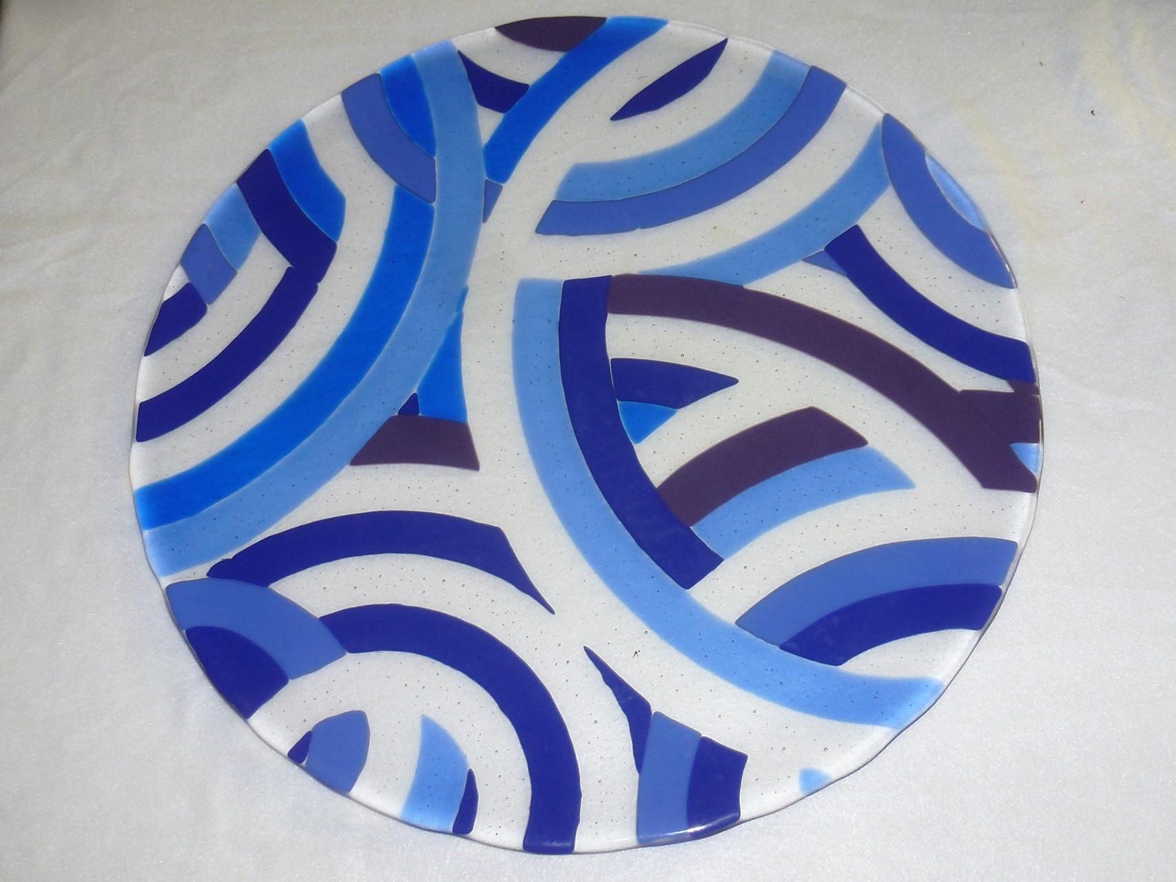 Bullseye Tekta/Farbglas blau opak