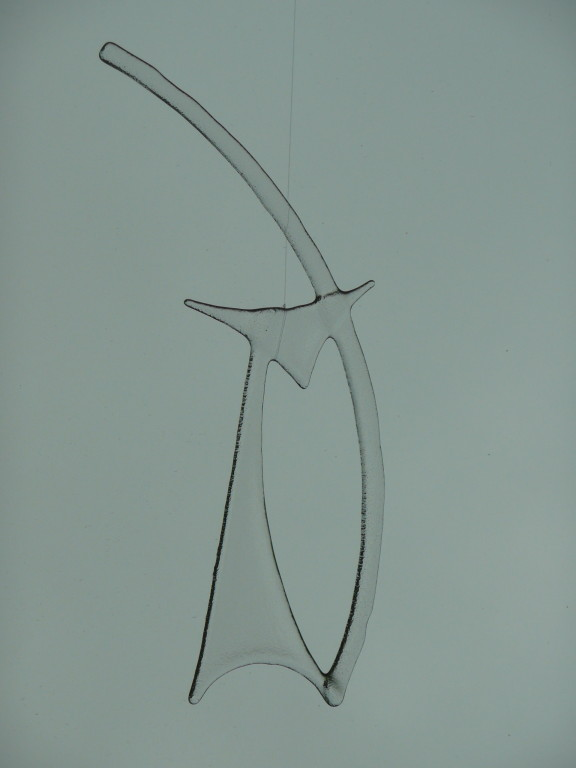 Katze (zirka 18.5x27.5cm) Hottackfusing transparent Preis: Fr. 25.--