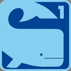 Schwimmabzeichen Wal