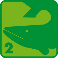 Schwimmabzeichen Hai