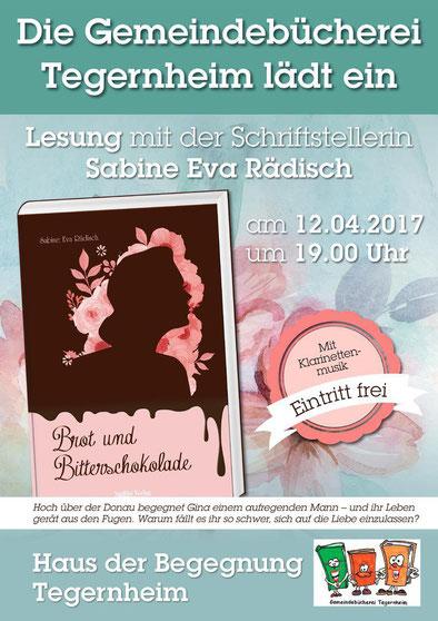 Regensburg Autorin Lesung Tegernheim Sabine Rädisch
