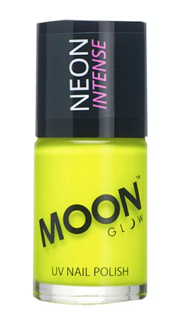 Neongelber Nagellack von Moon. Gekauft bei knicksandmore.ch