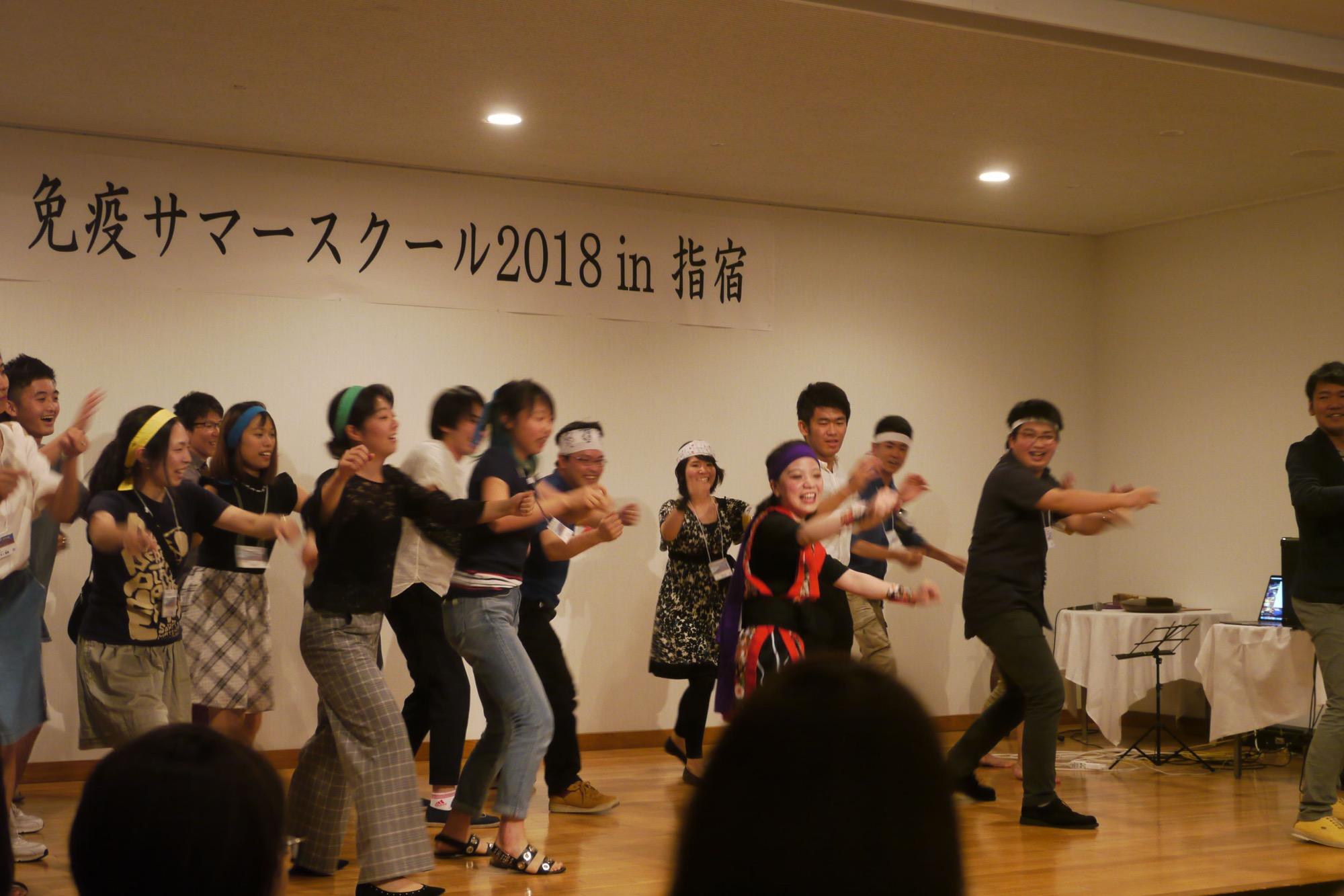 みんなで踊りました