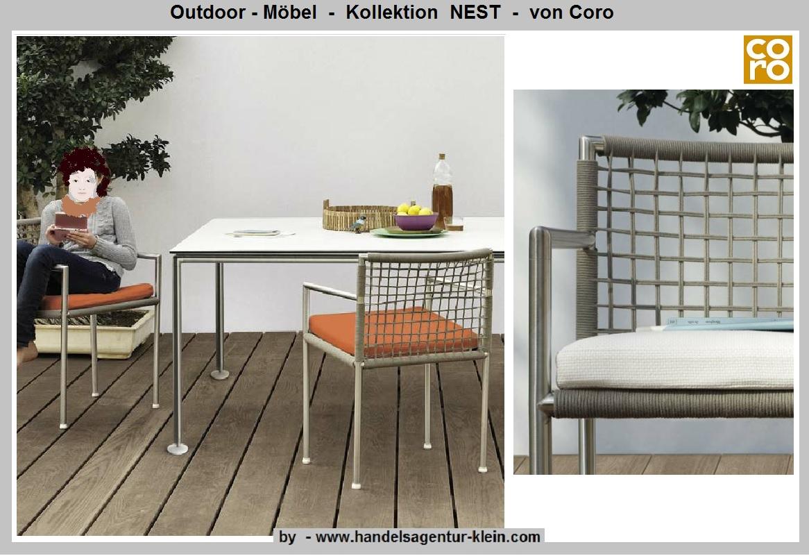Coro Projekte Outdoor Möbel Handelsagentur Kleins Webseite