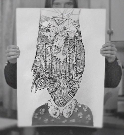 dmytruk graphick, dmitrukart, dmiytuk, дмитрук графика, графіка, муза, портрет, woman art, tree, forest portrait, чб арт, dmytrukart