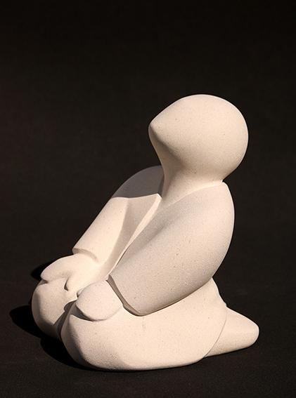 """""""Sous les étoiles"""" -sculpture en pierre de Lens - 24x18x19 cm"""