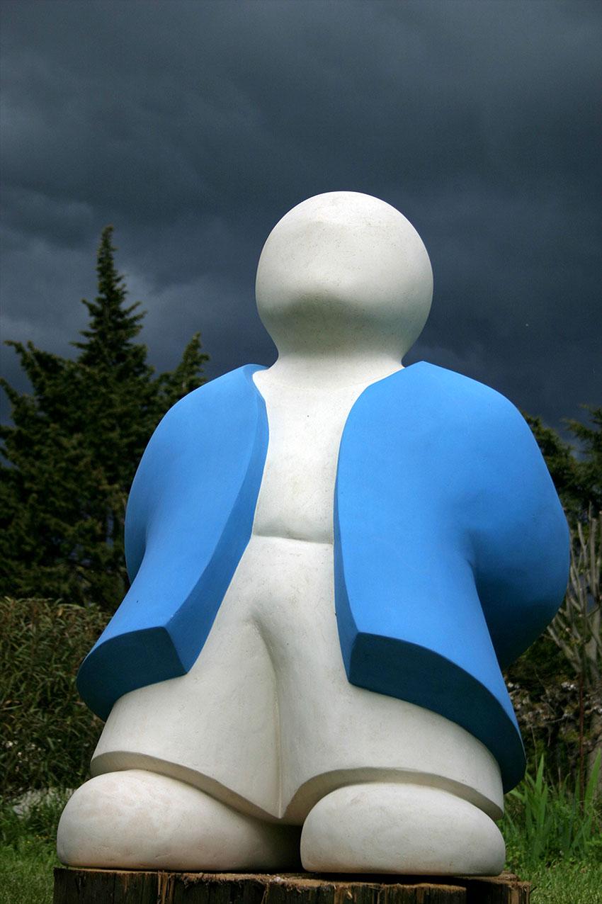 """""""Barnabé, le Rêveur"""" - sculpture monumentale en béton - 122x80x72 cm"""