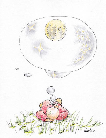 Darlou-dessin-barnabe capture les astres dans une bulle de savon géante