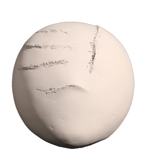 """""""Masque"""" - sculpture en fibres végétales et poudre de pierre - 27x25x16 cm"""