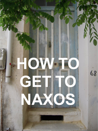 How to get to Naxos Greece - enjoy naxos