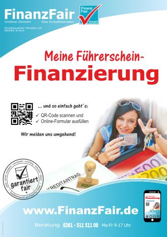 Einfache Finanzierung für Deinen Führerschein.