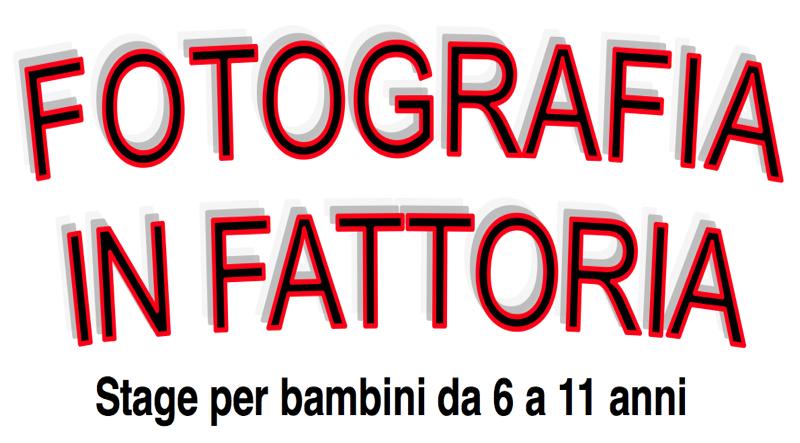 OLTREFOTO E'... STAGE PER BAMBINI