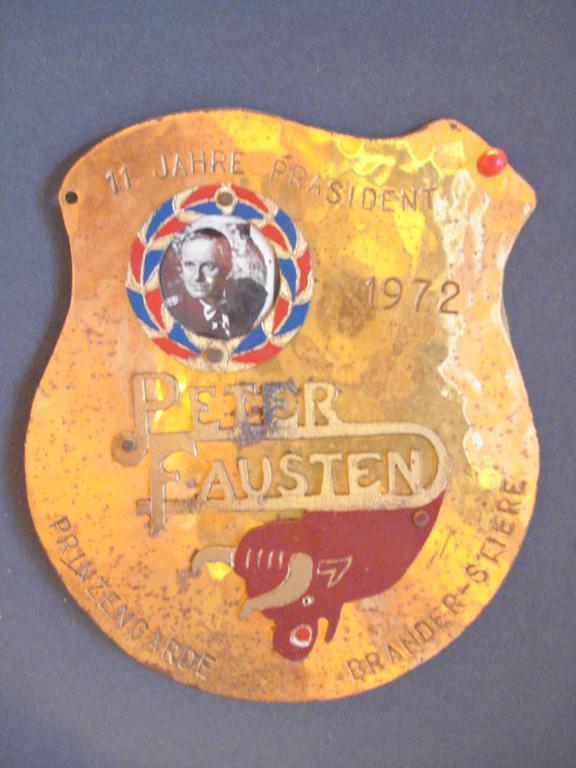 Peter Fausten, 11 Jahre Präsident, 1961 - 1972
