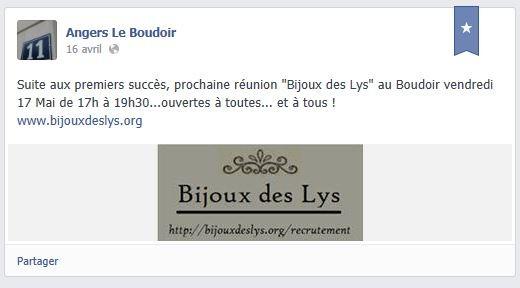 Vente réunion expo de bijoux des Lys Mai VDI