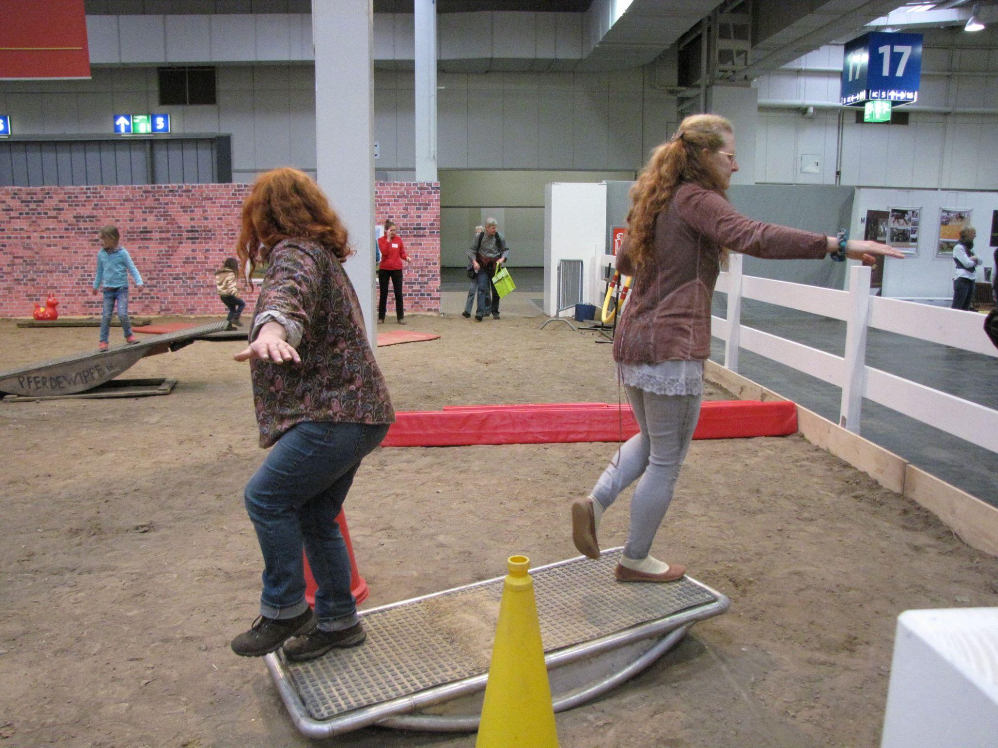 Viviane Theby und Ovis Ridens wippen mit hoher Herausforderung.