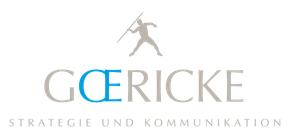 Logo Goericke Beratung für Strategie und Kommunikation GmbH