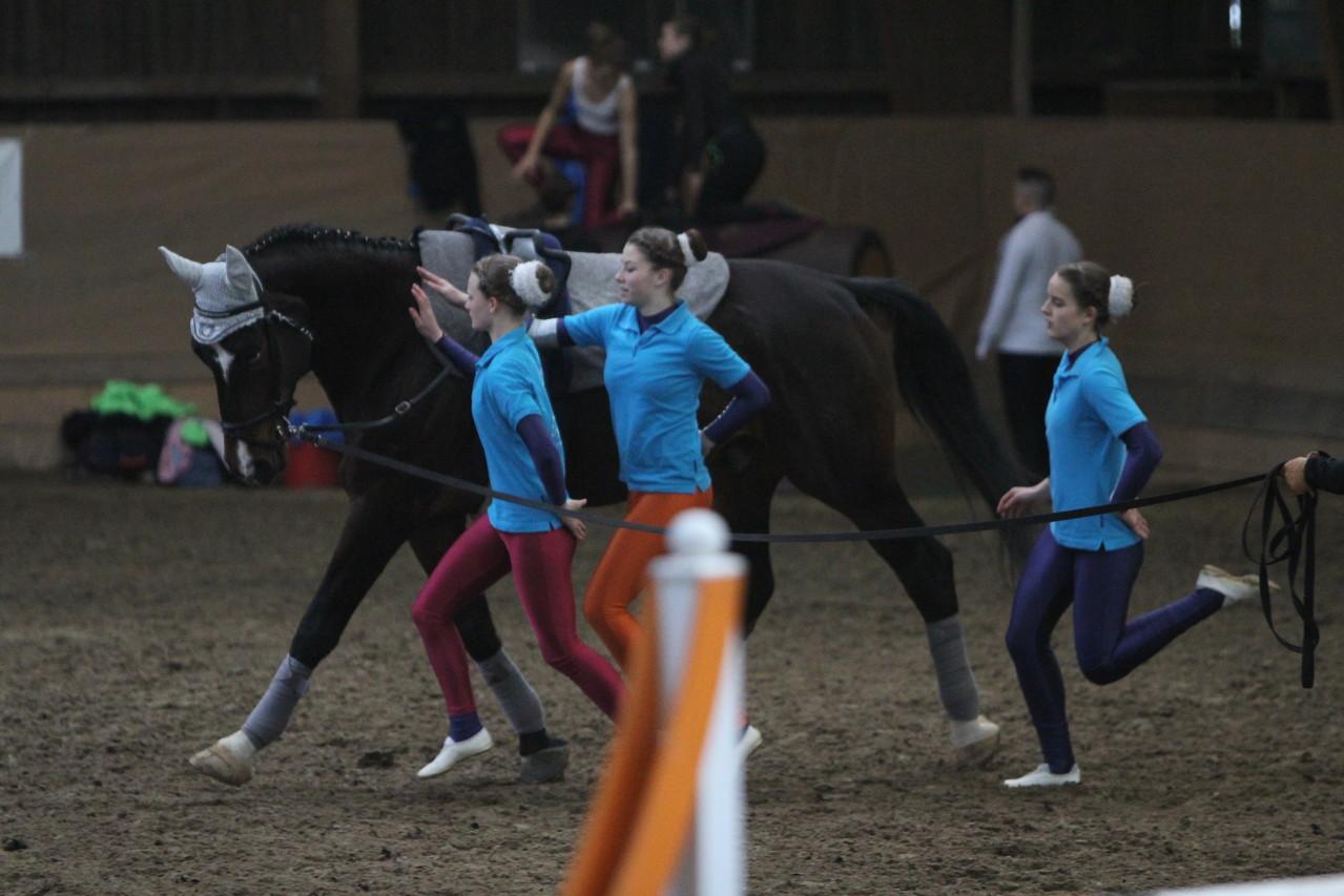 Team aus Moorbach/Voltigierpferdeprüfung