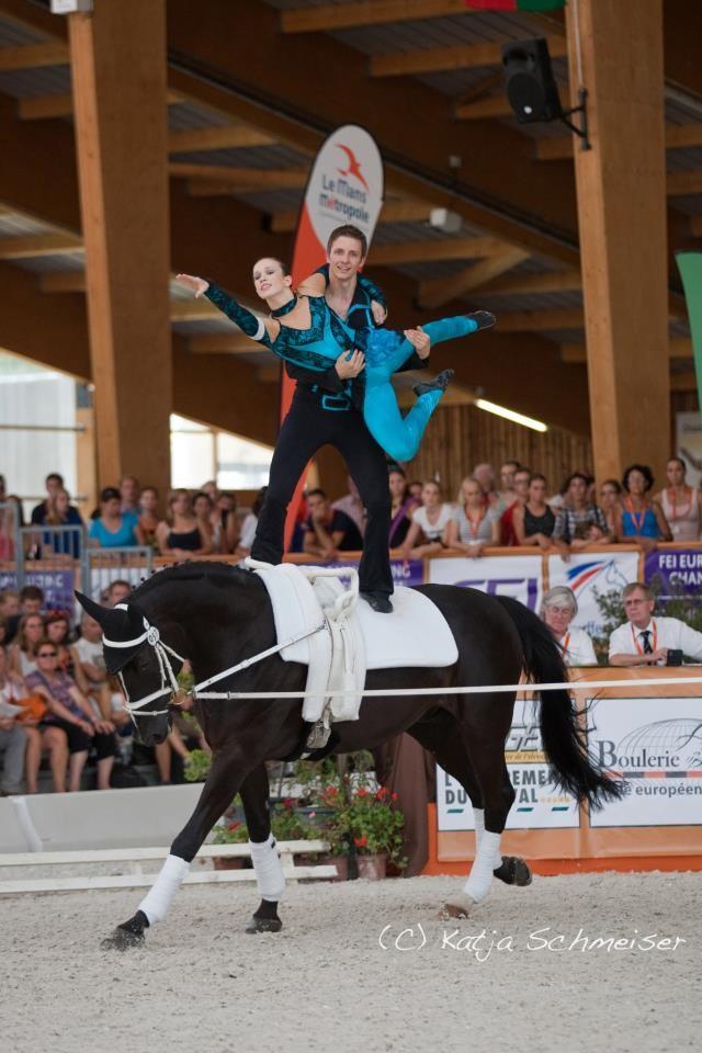 Moritz Wolf und Sophie Hofmann auf der EM 2011