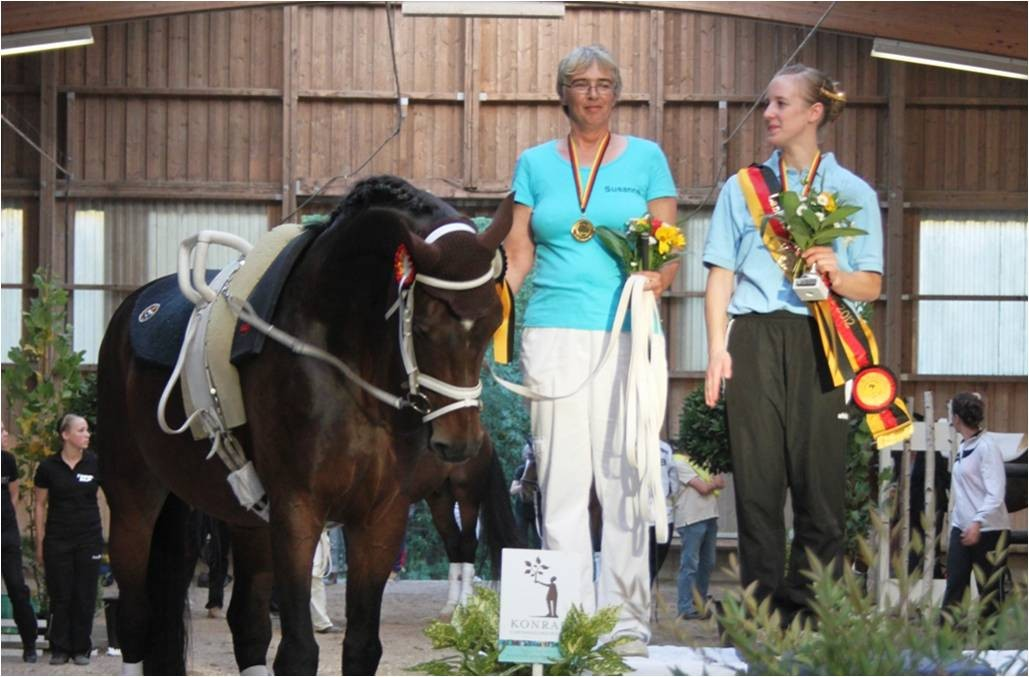 Landesmeisterin Barbara Köhler/Susanne Schneider