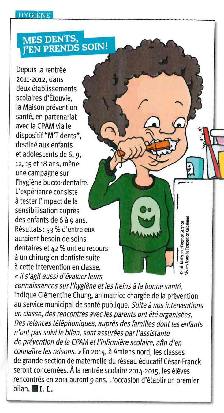 Article Amiens Forum exposition hygiène corporelle