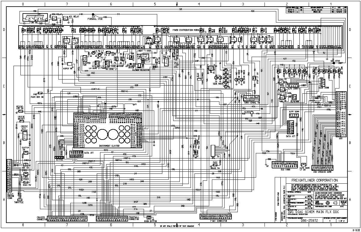 Peterbilt Wiring Diagram on 2006 freightliner columbia fuse box diagram