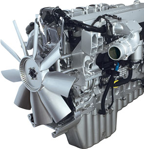 MBE 4000: volume 12.8 liters, power 350-450 hp