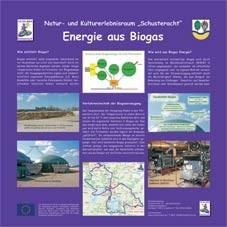 Infotafel Schusteracht: Energie aus Biogas