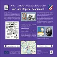 Infotafel Schusteracht: Gut und Kapelle Sophienhof