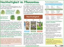 Infotafel Lehrpfad Bothkamp: Nachhaltigkeit im Pflanzenbau