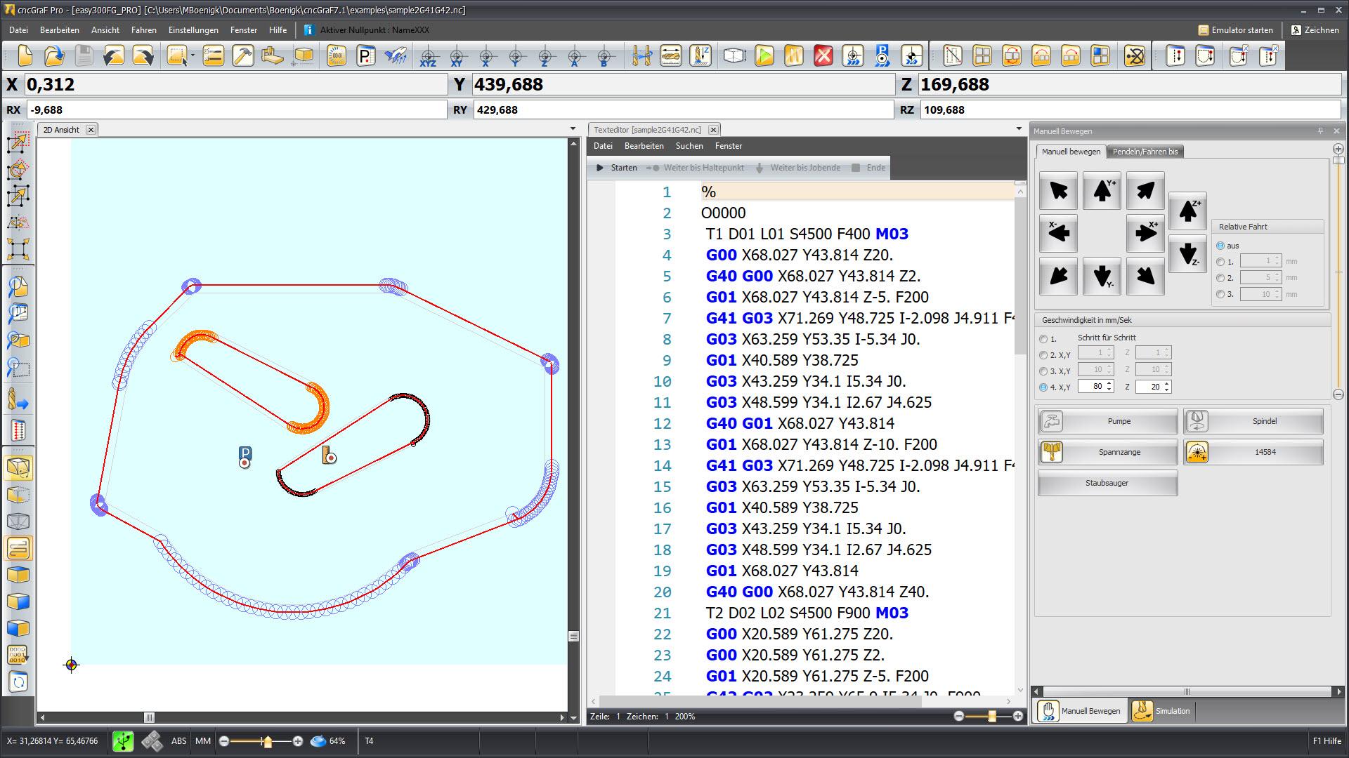 CNC Steuerungssoftware - cncGraF - G-Code Editor