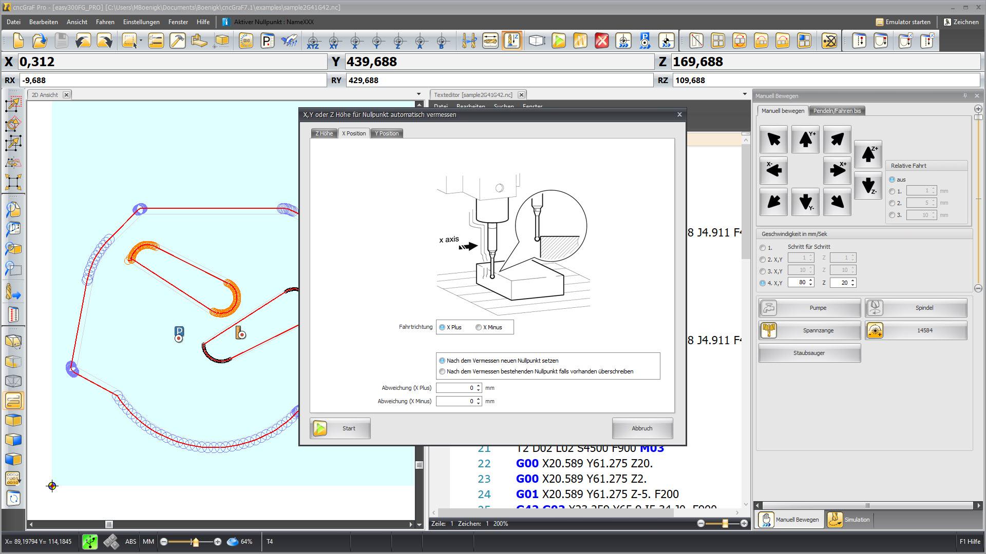 CNC Steuerungssoftware - cncGraF - 3D Taster