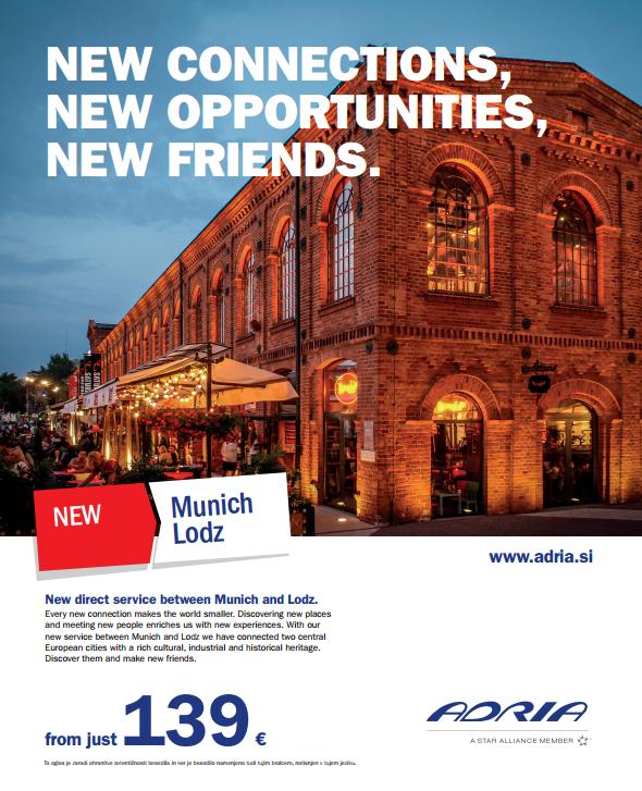 Fotografia w kampanii reklamowej linii lotniczej Adria Airways