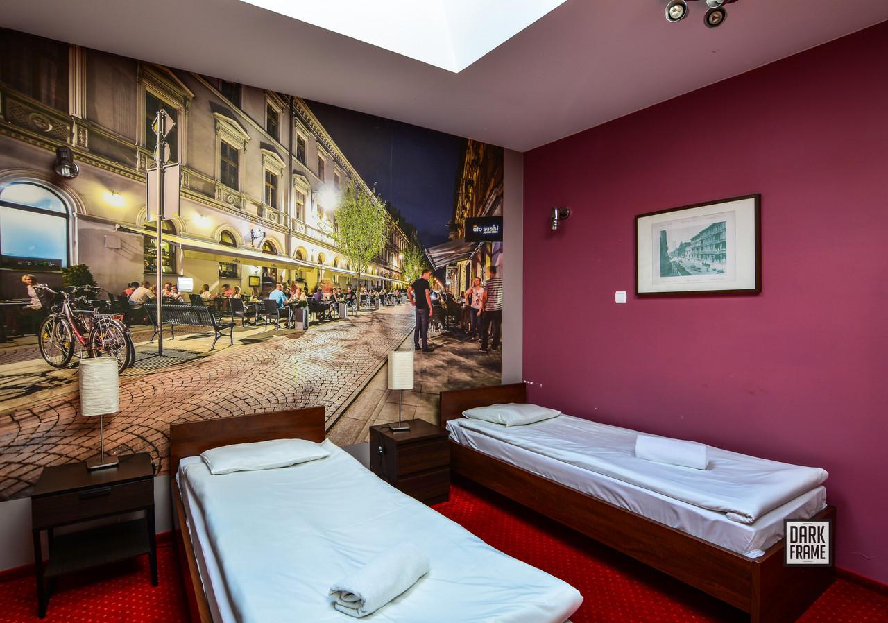 Fototapeta w hostelu Flamingo Łódź