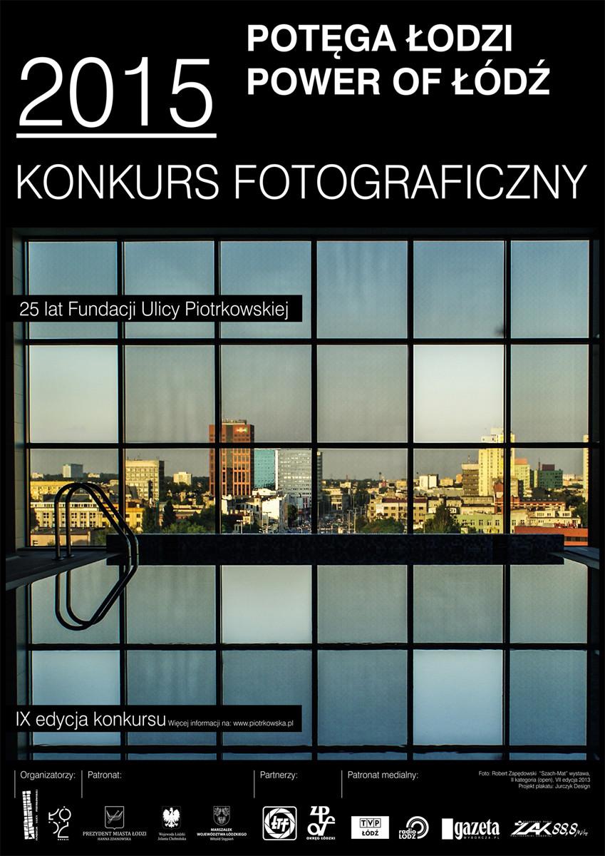 Fotografia na plakacie reklamującym konkurs fotograficzny Potęga Łodzi