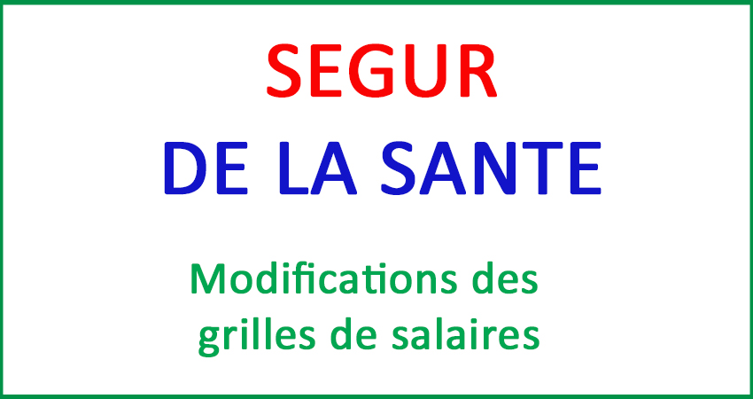 Revalorisations Grilles SEGUR