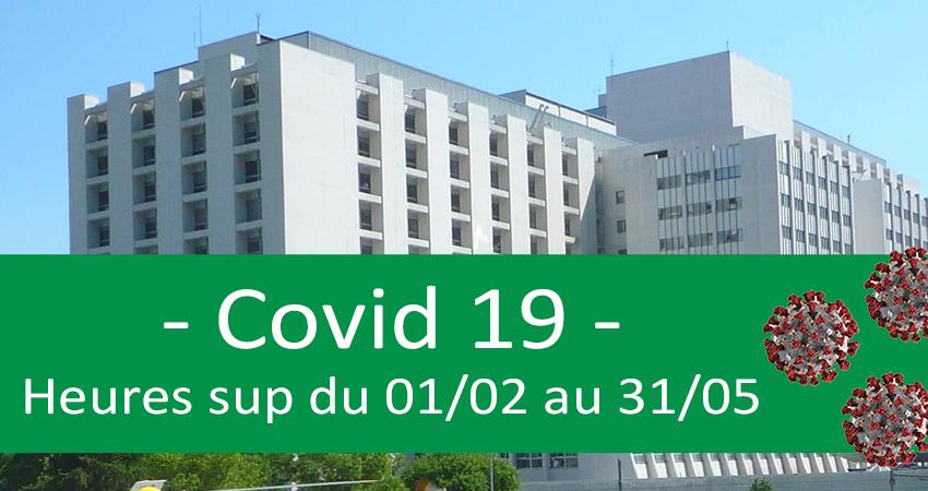 Covid-19 - Heures supplémentaires du 01/02 au 31/05