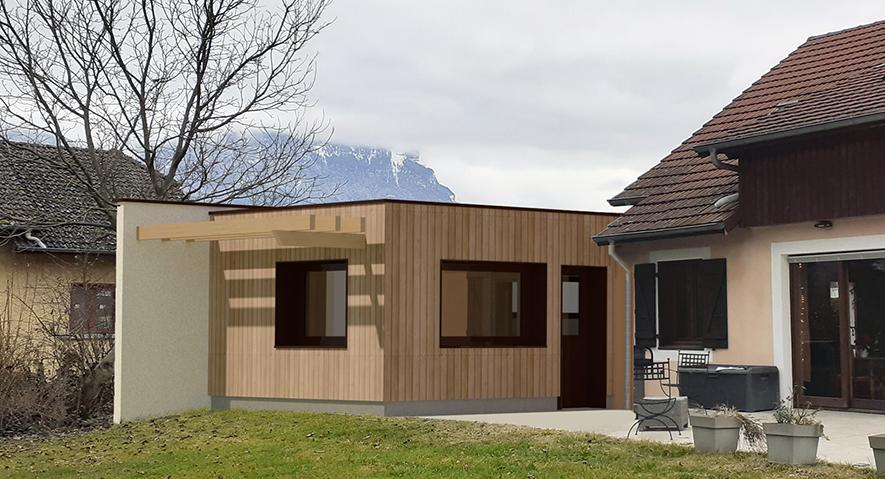 Extension d'une maison à Ste Hélène du Lac (73) - Permis accordé