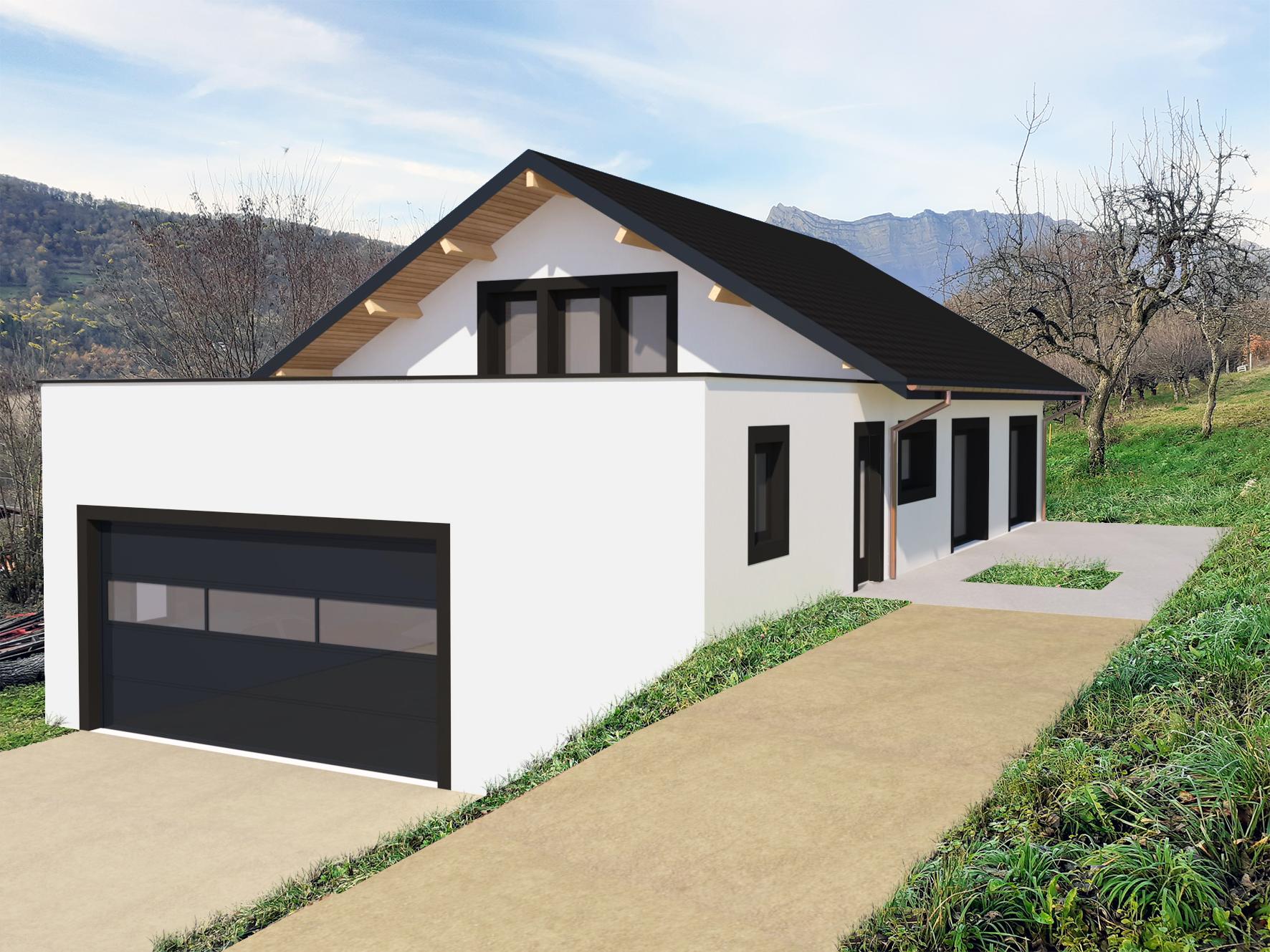 Construction d'une maison individuelle à Villard-Léger (73) - Permis accordé