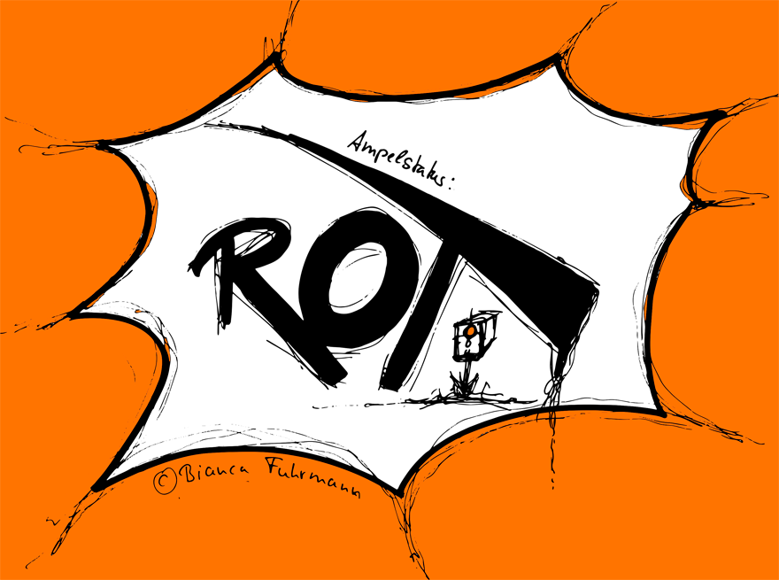 Projekt-Voodoo®-Blog Albtraum rote Projekt-Status-Ampel, © Bianca Fuhrmann