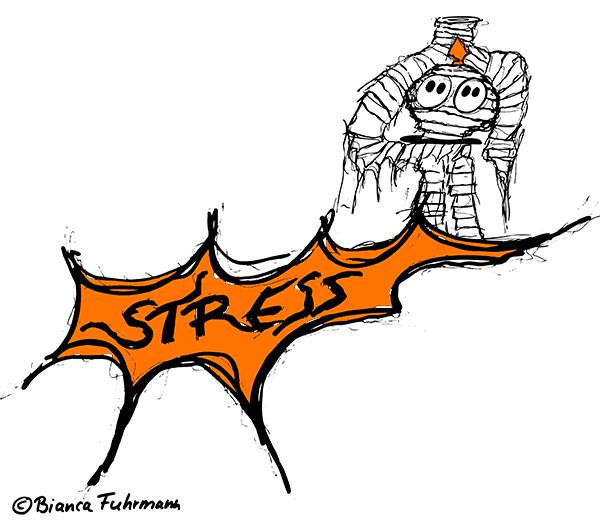 Zombie im Stress, © Bianca Fuhrmann- Die lange Business-Zombie Woche 2014 #BusinessZombie
