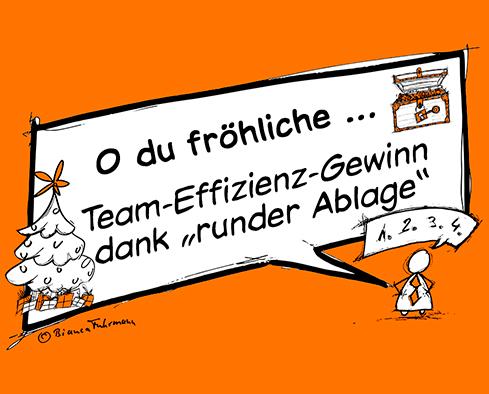 Team-Effizienz-Gewinn dank runder Ablage von Bianca Fuhrmann, (c) Bianca Fuhrmann