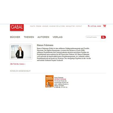GABAL Verlag Profil Bianca Fuhrmann