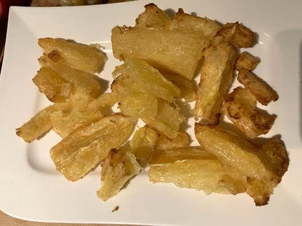 Yuca Stückchen fertig frittiert aus dem Airfryer