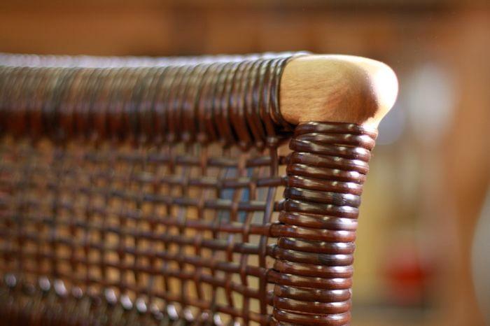 椅子の背あみ。