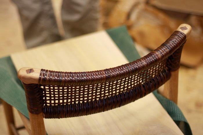 この椅子は最新の制作。2012の展覧会ではご披露でしょうか?