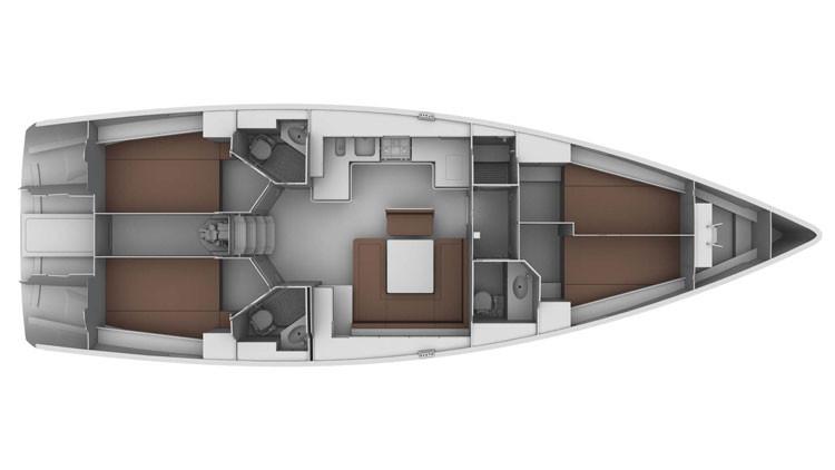 Bavaria cruiser 45 neu Grundriss