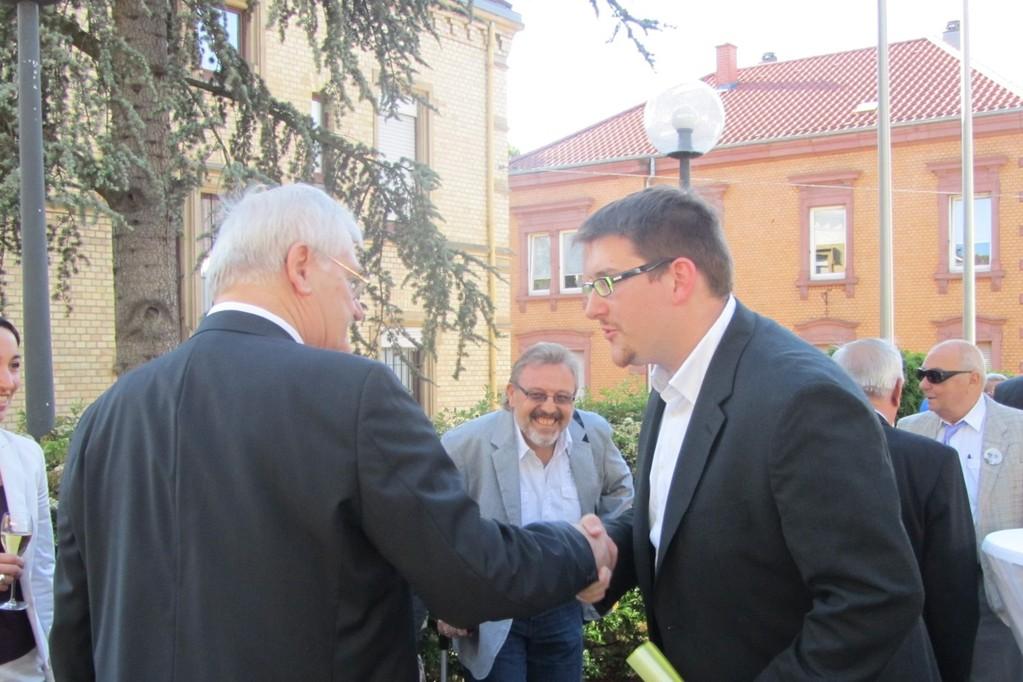 Egon Jüttner mit Alexander Manz