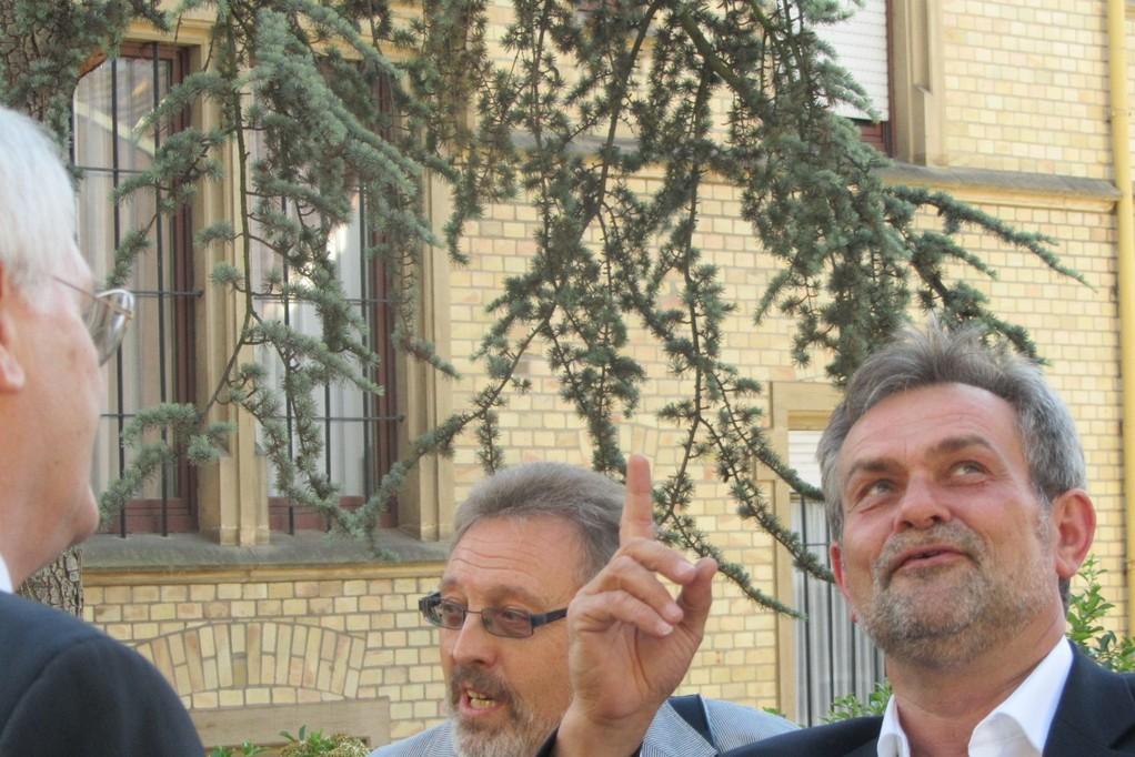 Stadtrat Roland Weiß und Klaus Schillinger
