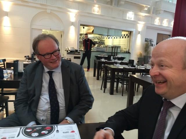 Hans van Baalen MdEP, Präsident der ALDE Partei und Michael Theurer MdEP, Landesvorsitzender FDP-Baden-Württemberg